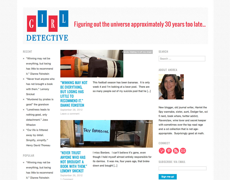 Girl Detective: Blog + header