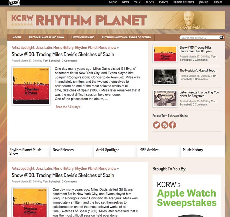 Rhythm Planet: Blog Landing Page
