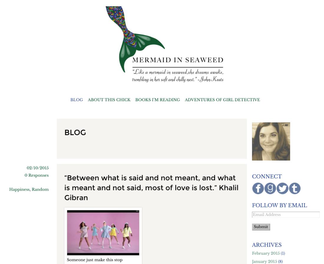 Mermaid In Seaweed: Blog + Header