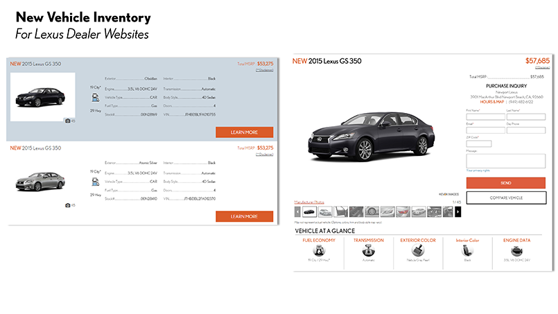 New Vehicle Inventory Application
